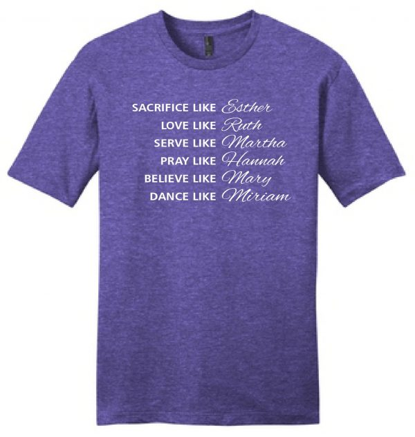 Grace Bible Church, JAM shirts 2021, REVISED FONT Heather Purple by District